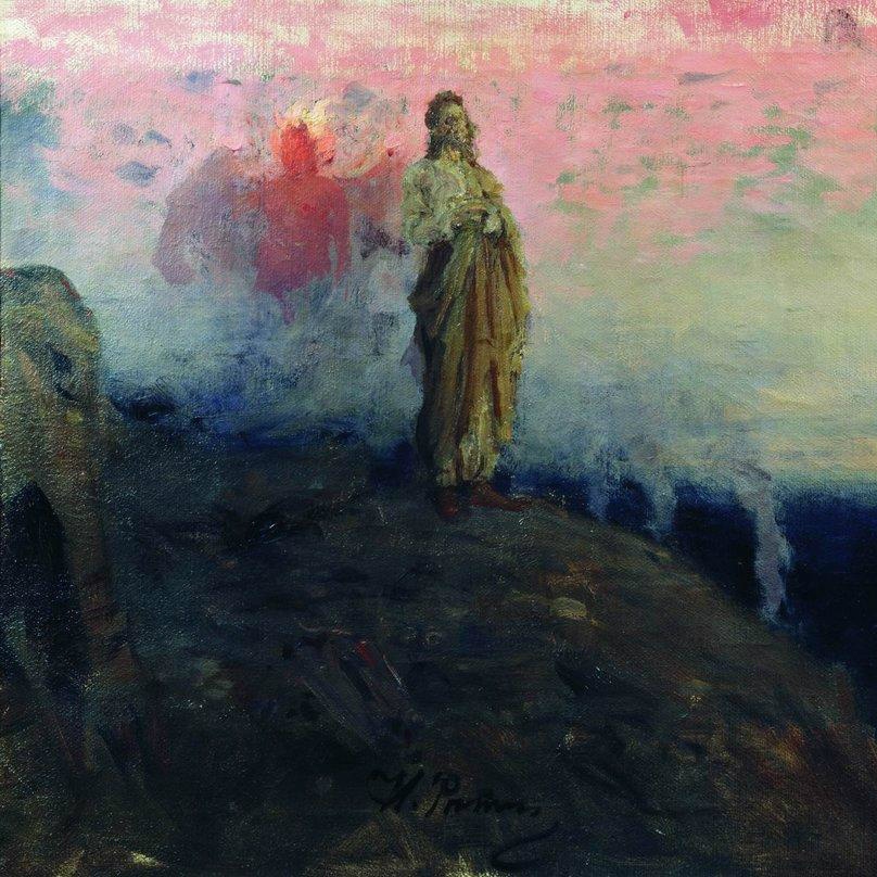 """Follow me, Satan (Temptation of Jesus Christ)"" von Ilya Repin auf WikiPaintings.org"